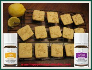 Lemon & Lavender Shortbread Cookies