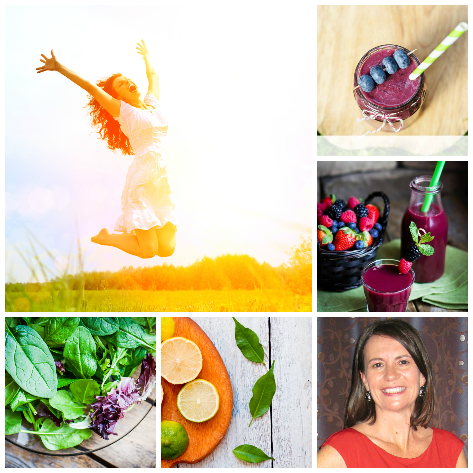 Spring into Clean Eating Collage