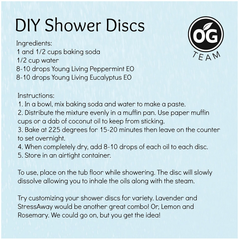 Do it yourself shower discs
